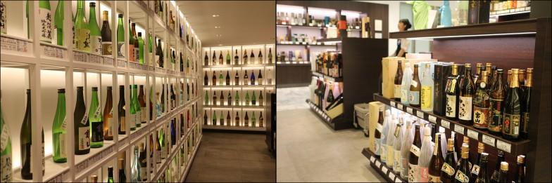 松屋銀座地下1階の日本酒売り場