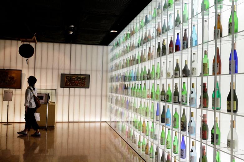 日本酒、280本の眺めは壮観です