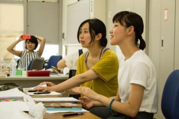 右がプロデューサーの大野さん、左が演出助手の田所さん