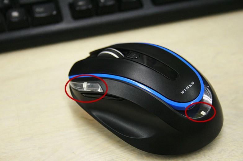 赤丸部分がセンサー。