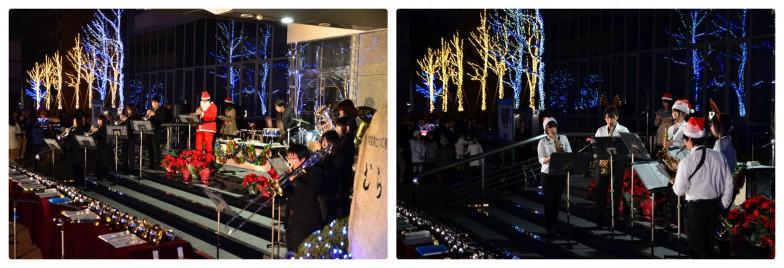 音楽学部の学生たちによるコンサートで盛り上がる、徳島文理大学の「イルミネーション点灯式」