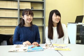 副編集長の小松原さん(右)と山水さん(左)
