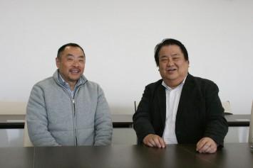 『楽しくアンチエイジング!講座』の魅力を語る、藍野大学医療保健学部理学療法学科 後藤昌弘教授(左)と、同学科学科長 西村敦教授。