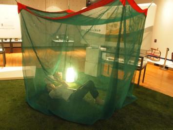 蚊帳でごろり