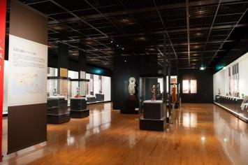 仏教の世界を旅することができる展示室