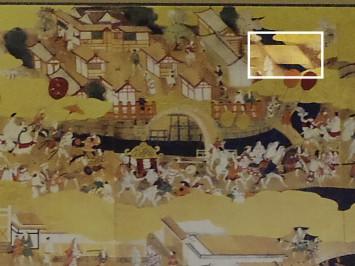 住吉大社の石舞台(白枠部分)