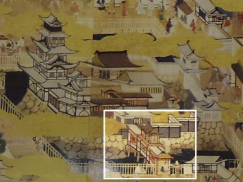 屏風に描かれた極楽橋