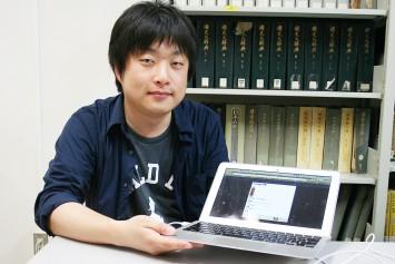 アプリの実装・プログラミングを担当した橋本雄太さん(京都大学大学院文学研究科所属)