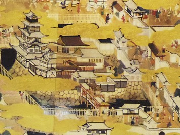 屏風に描かれた大坂城