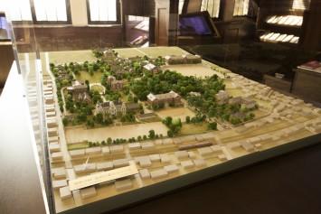 関西学院発祥の地、原田の森キャンパスを再現(現在の神戸市灘区、王子動物園周辺)