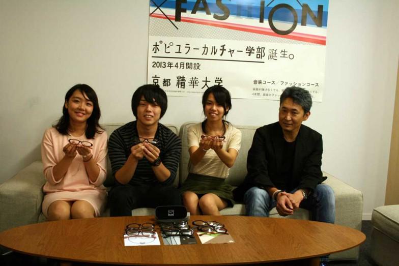 左から、長谷川さん、藤田さん、北野さん、平田先生