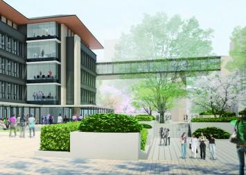 図書館や博物館のある施設と連結ブリッジでつながる(写真はイメージ)