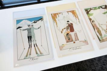 こちらはジョルジュ・バルビエの絵を使用したクリアフォルダー(非売品)