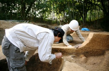 発掘調査の様子