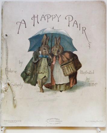 1893年「A Happy Pair」初版、世界に10冊程度しか確認できていない「幻の絵本」。
