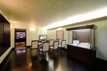 第3展示室はピーターラビットのグッズ展示とアニメなどの映像を公開中。