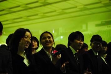 ワクワクと笑顔でいっぱいになる新入生たち