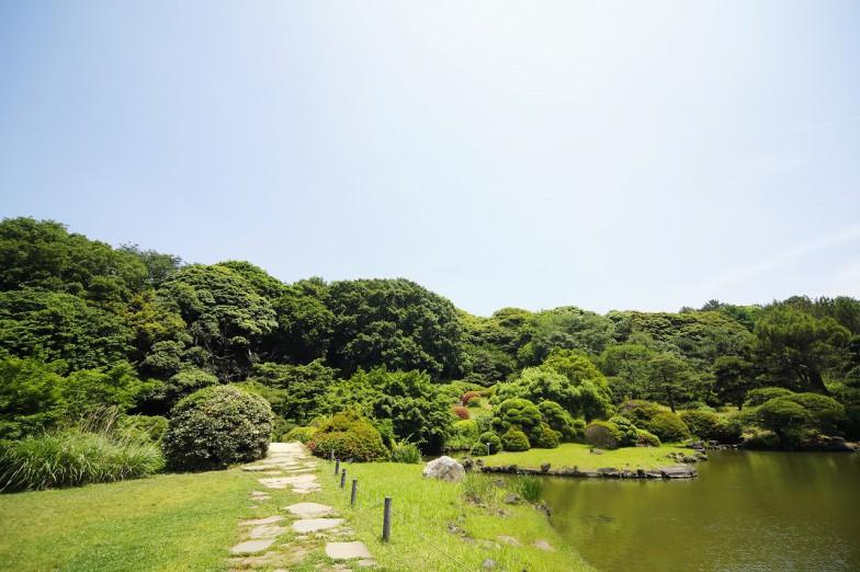第5代将軍・徳川綱吉に縁ある白山御殿に由来する、自然の地形に優れた技術がうかがえる江戸時代の代表的な庭園