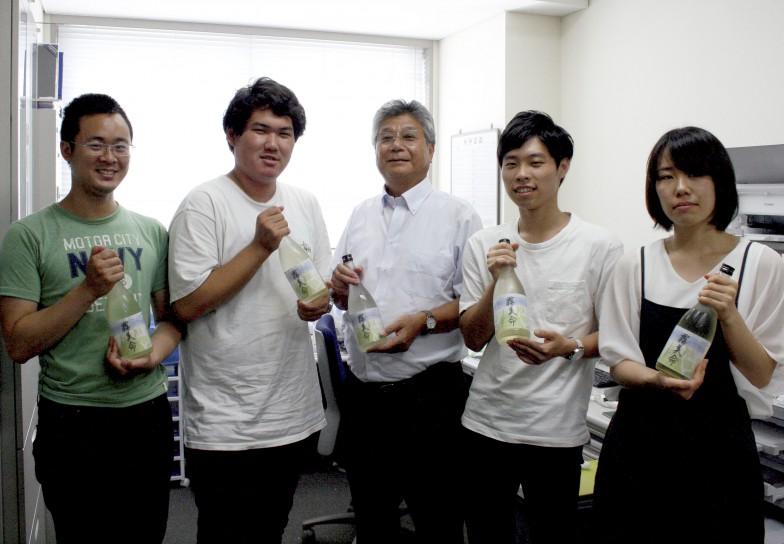全国でここだけ!'みずほのか'を使った京都学園大学の日本酒「霧美命」