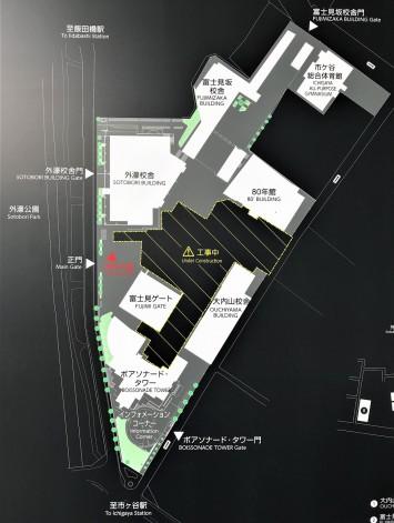 市ケ谷キャンパスマップ