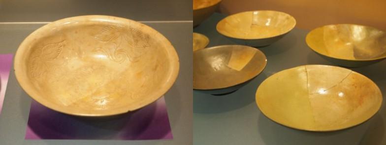 ツヤと文様で高級感漂う緑釉陶器。こんなにキレイな状態で残っているとは!
