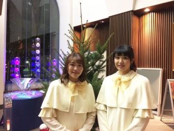 (左から)今村真子さんと黒澤愛さん