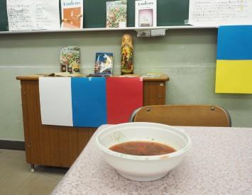 1杯500円、ウクライナの文化なども紹介されていました