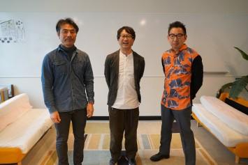 左から西村先生、久保田先生、小島先生。
