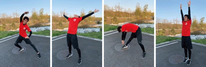 身体をダイナミックに、素早く動かす動きがいろいろ