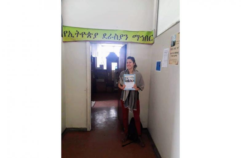 アディスアベバのエチオピア作家協会にて