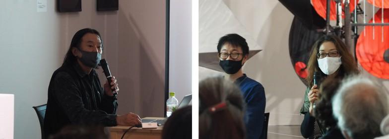 左から川崎義博先生(京都市立芸術大学)、三枝一将先生(東京藝術大学)、岡田加津子先生(京都市立芸術大学)