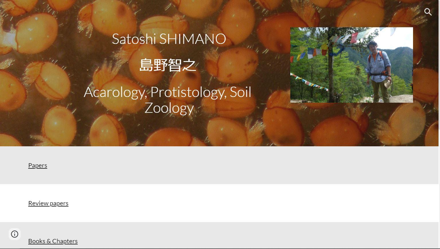 島野智之教授のウェブサイト