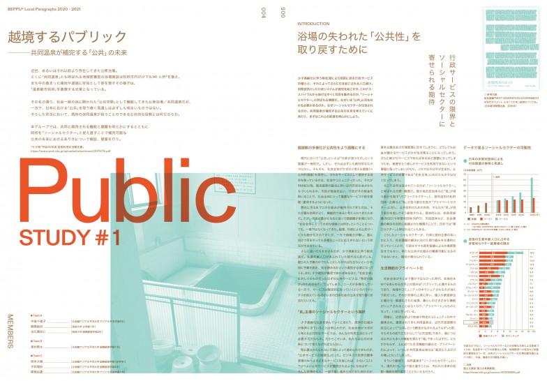 公衆浴場についてのリサーチ成果を掲載し「PUBLIC」特集