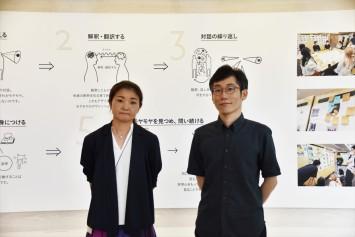 坂元美穂さん(写真左)、河野通義さん(右)