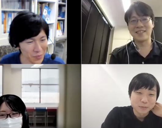 左上:山田強さん 右上:兼松佑典さん 左下:高橋知里さん 右下:金尾英佑さん
